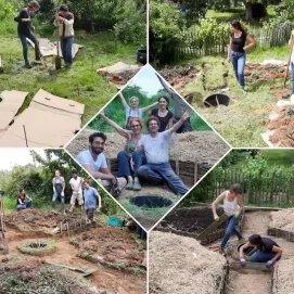 Chantier entre plusieurs fonds de jardins