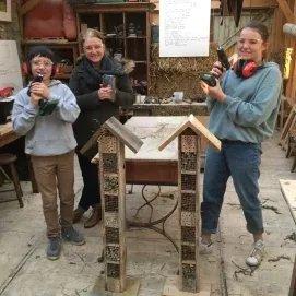 Atelier 1 (1/2j ou 1j).  Privatisation de l'atelier bois pour constructions d'hôtels à insectes ou nichoirs  en famille/ entre amis.